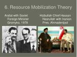 6 resource mobilization theory