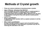 methods of crystal growth