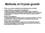methods of crystal growth15