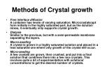 methods of crystal growth16
