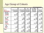 age group of cohorts