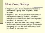ethnic group findings1