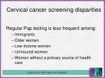 cervical cancer screening disparities