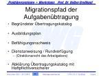 migrationspfad der aufgaben btragung
