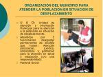 organizaci n del municipio para atender la poblacion en situacion de desplazamiento1