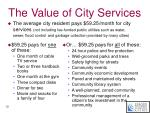 the value of city services