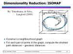 dimensionality reduction isomap