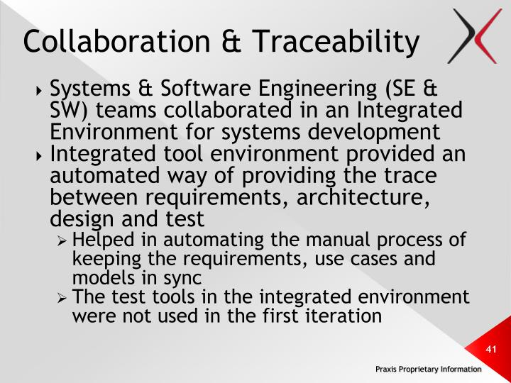 Collaboration & Traceability