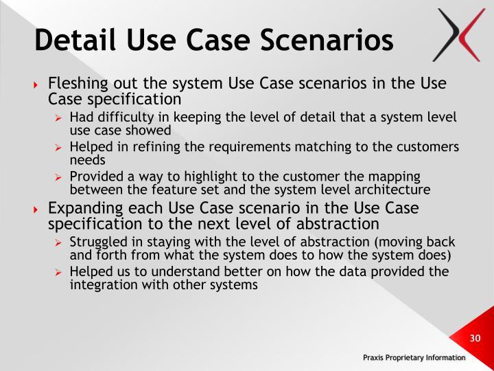 Detail Use Case Scenarios