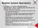 realize system operations1