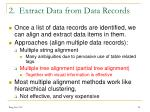 2 extract data from data records
