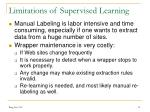 limitations of supervised learning