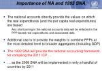 importance of na and 1993 sna