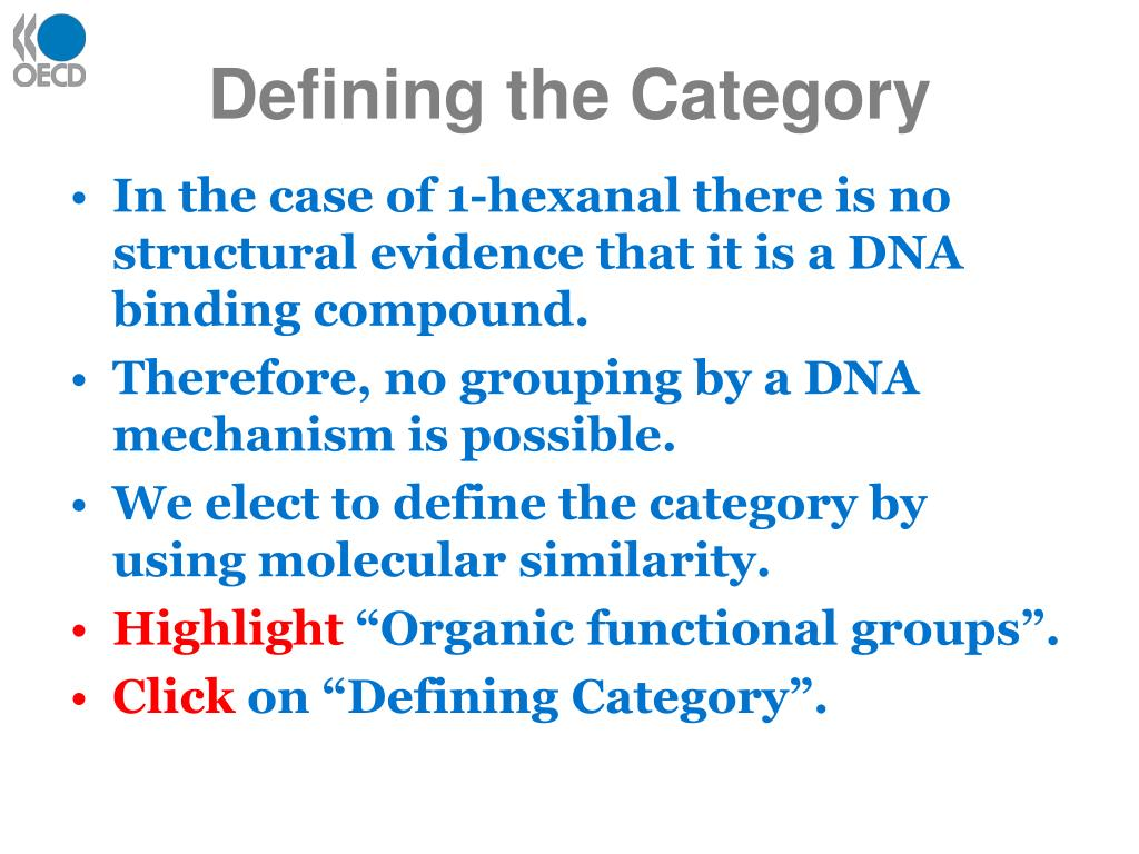 Defining the Category