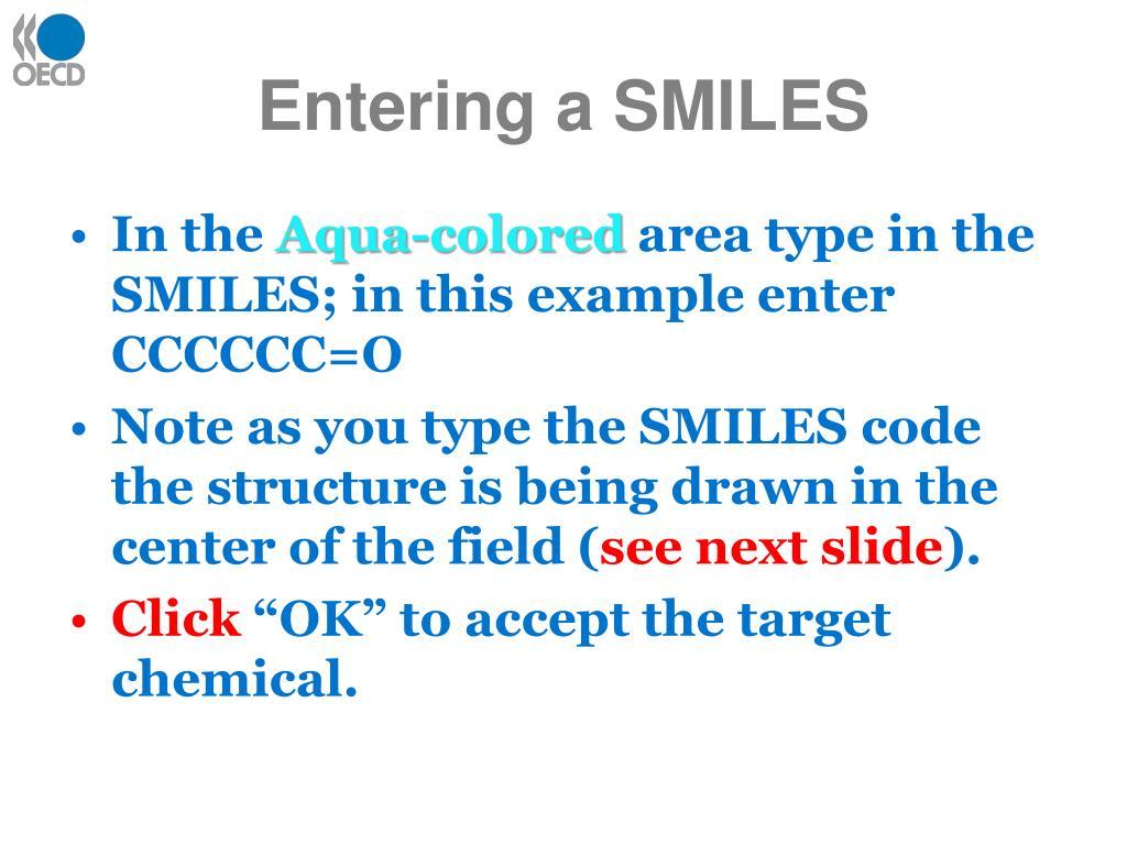 Entering a SMILES