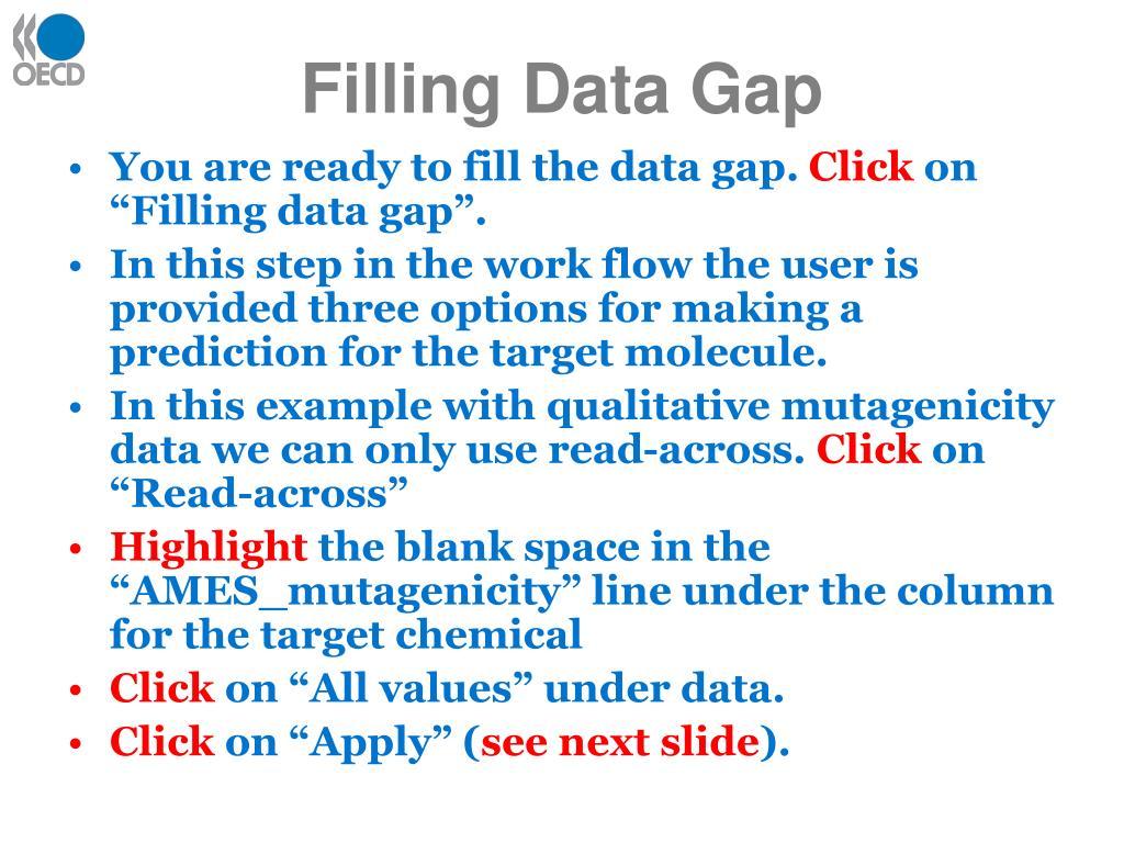Filling Data Gap