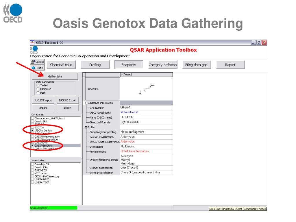 Oasis Genotox Data Gathering