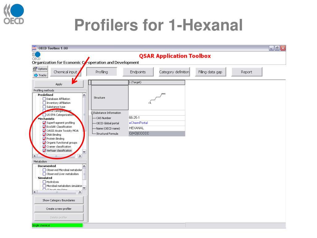 Profilers for 1-Hexanal