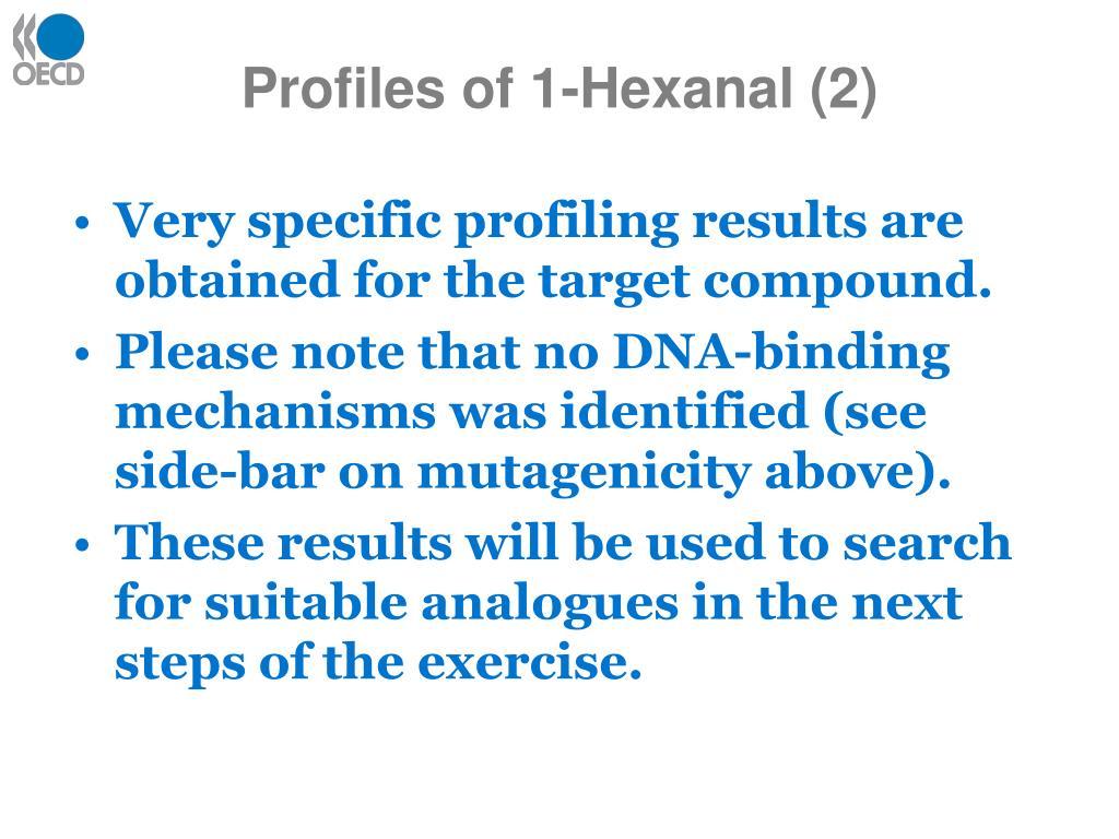 Profiles of 1-Hexanal (2)