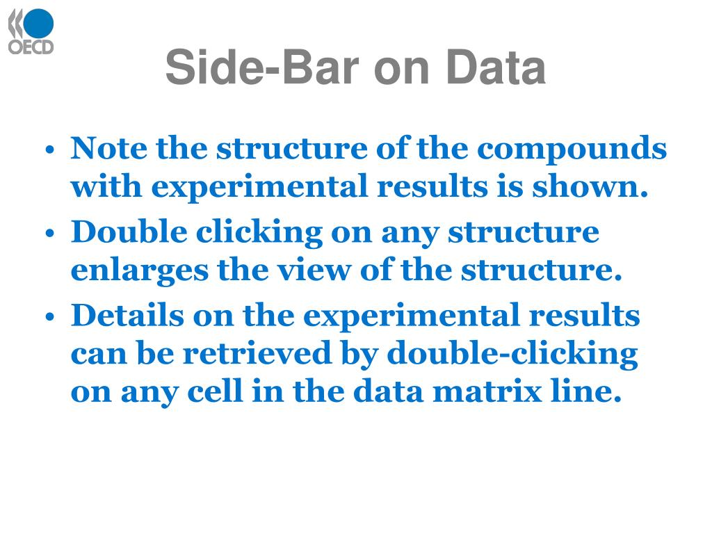 Side-Bar on Data