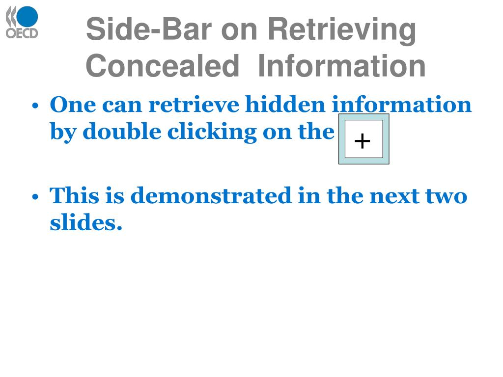 Side-Bar on Retrieving