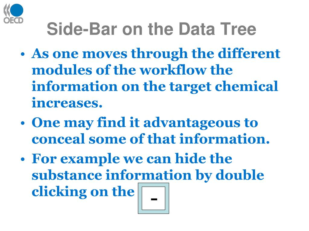 Side-Bar on the Data Tree