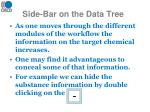 side bar on the data tree