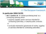 1 1 the european framework3