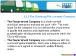 2 2 3 the goteborg procurement company