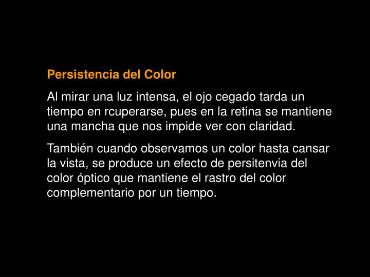 Persistencia del Color