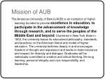 mission of aub