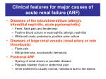 clinical features for major causes of acute renal failure arf3