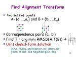 find alignment transform
