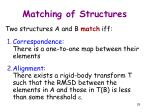 matching of structures