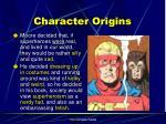 character origins