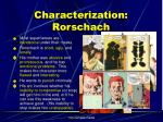 characterization rorschach