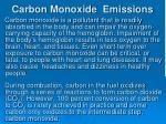 carbon monoxide emissions