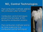no x control technologies