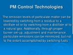 pm control technologies