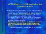 hfac report on un participation act unanimous 1945