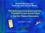 national security law professor john norton moore