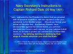 navy secretary s instructions to captain richard dale 20 may 1801