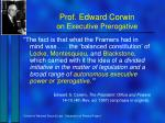prof edward corwin on executive prerogative