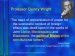 professor quincy wright