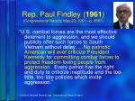 rep paul findley 1961 congressional record may 23 1961 p 8587