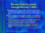 senate majority leader george mitchell 1988