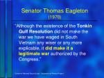 senator thomas eagleton 1970