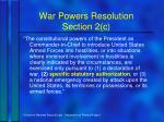 war powers resolution section 2 c