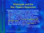 watergate and the war powers resolution