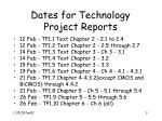 dates for technology project reports